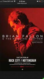 2 X Brian Fallon Tickets for Sale