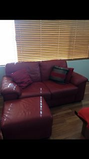 leather sofas - 2 and 3 seater and storage footstool Success Cockburn Area Preview