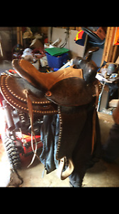 Western Studded Saddle