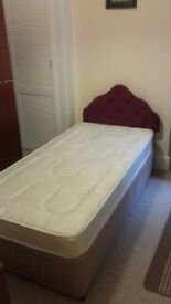 3ft single bed with headboard as new