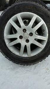 4 x 195/60R15 mag honda encors tres bon pneus