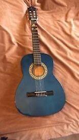 blue classical stagg guitar handmade