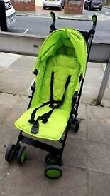 Zeta City Single Stroller in Lime (with accessories)
