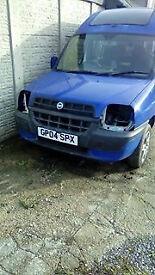 2004 Fiat Doblo Van Taxi 1.9 JTD,SAAB VAUXHALL ENGINE, BREAKING FOR PARTS