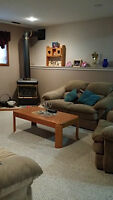 Love Seat, Chair set & Coffee Table with end tables