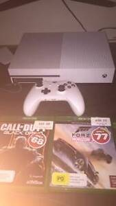 Xbox One S 500Gb 2 Remotes 3 Games WHITE Salamander Bay Port Stephens Area Preview