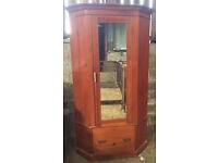 Antique/Vintage Pine corner wardrobe