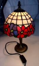 Tiffany light decor stained glass floral, bronze finish stand Woodcroft Blacktown Area Preview
