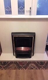 marble fire surround ans electric fire