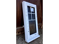 White UPVC Bathroom Window - Opening - With Obscured Glass - BRAND NEW