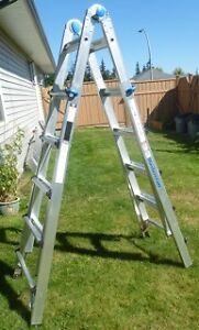 MASTERCRAFT TELESCOPIC ALUMINUM MULTI-TASK LADDER