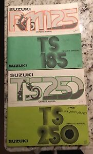Vintage Suzuki Owners and Service Manuals