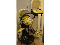 Pram Cosatto Giggle 2 - 3 in 1 Travel System in Treet with Car Seat