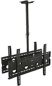 DOUBLE SIDED TV CEILING MOUNT HEIGHT ADJUSTABLE MOUNT CM 405 MOUNTS 42-80 INCH TV - HOLD UP TO 220 LB. (100 KG) $124.99