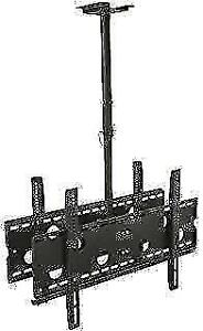 DOUBLE SIDED TV CEILING MOUNT HEIGHT ADJUSTABLE MOUNT 42-80 INCH