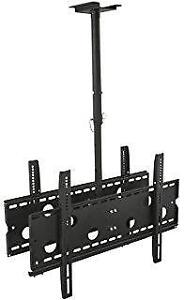 DOUBLE SIDED TV CEILING MOUNT HEIGHT ADJUSTABLE MOUNT CM 405 MOUNTS 42-80 INCH TV - HOLD UP TO 220 LB. (100 KG) $ 124.99