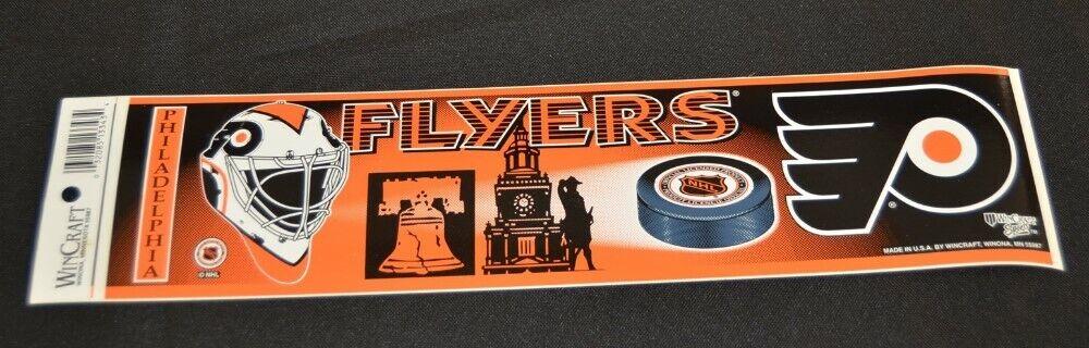 Vtg WinCraft Philadelphia Flyers Bumper Sticker Liberty Bell