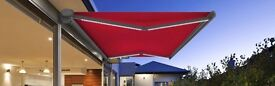 ELECTRIC OUTDOOR CANOPY AWNING, BLACK SUITABLE FOR HOME CAFE, PUB, RESTAURAUNT