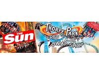 SWAP The Sun FREE Thorpe Park tickets