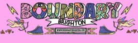 Boundary Brighton Ticket (official ticket) x1