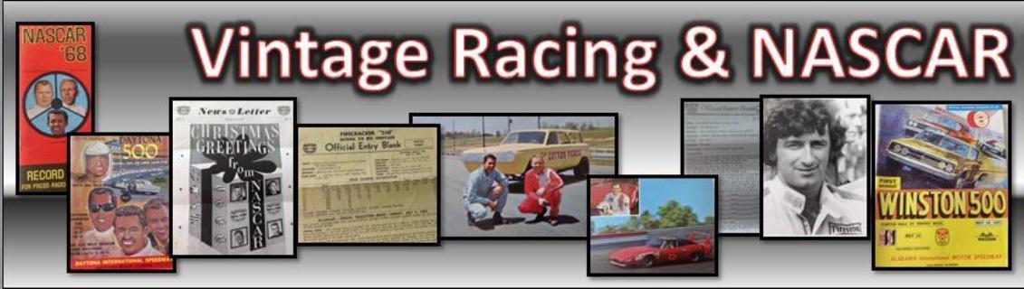 Vintage Racing & NASCAR Memorabilia