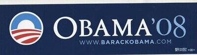 BARACK OBAMA 2008 PRESIDENT ORIGINAL BLUE  BUMPER STICKER