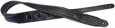 Stagg SPFL 40 BLK Black Padded Leather-Style Adjustable Guitar Strap!