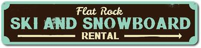 Ski & Snowboard Sign, Personalized Ski Rental Arrow Sign, Custom - ENSA1001563 - Custome Rentals
