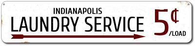 (Laundry Service Sign, Personalized Arrow 5 Cents Per Load Laundry - ENSA1001751)