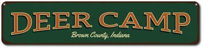 Deer Camp Sign, Personalized Hunting Location Sign, Custom Hunter - ENSA1001606