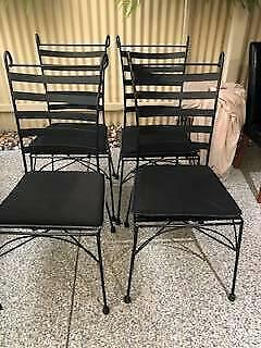 Magnificent Wrought Iron Chairs Outdoor Dining Furniture Gumtree Interior Design Ideas Tzicisoteloinfo