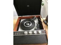 Vintage HMV portable record player, late 1960s, model 2042