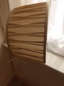 Gold colour silky material light/lamp shade