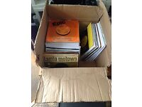 """box load approx 100 x 7"""" vinyl records soul disco funk etc job lot"""
