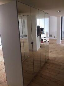 Beautiful Mirrored door wardrobes (4 door)