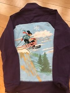 Neve zip up ski sweater! Such incredible deatails.