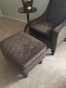 New Designer Chair and Ottoman -very comfortable