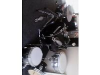 full drum kit. + stool