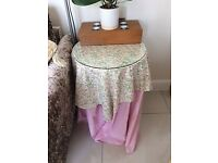 Varous size tables for bedside, display/sofa some with glass tops