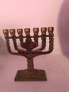 BRASS MENORAH FROM JERUSALEM