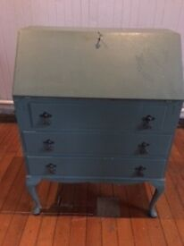 Lovely painted vintage bureau for sale £80.
