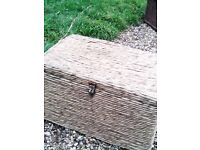 """WICKER CHEST / TRUNK / COFFEE TABLE / STORAGE - 33"""" x 22"""" + 16"""" height * CLACTON CO15 6A"""