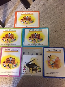 Piano books, $ 6/Each,Prep Course For Young Beginners