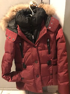 MANTEAU ROUGE HIVER COMME NEUF OXYGENE COLLECTION
