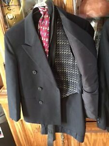 2 boys dress suits, vest, shirt, ties and belts London Ontario image 2