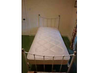 Single Bed with metal frame (one of a pair)