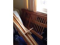 pine double bed with matress if wanted . reduced !