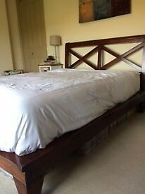 Wooden John Lewis Double Bed - hardwood frame