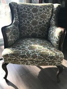 Vintage Wingback Chair Cambridge Kitchener Area image 1