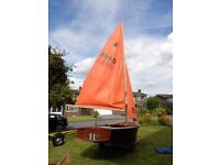 GP14 sailingy dingy togethr with Road and Launch trailer